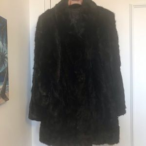 NWT💎3/4 Length Black Diamond Mink Fur Coat💎